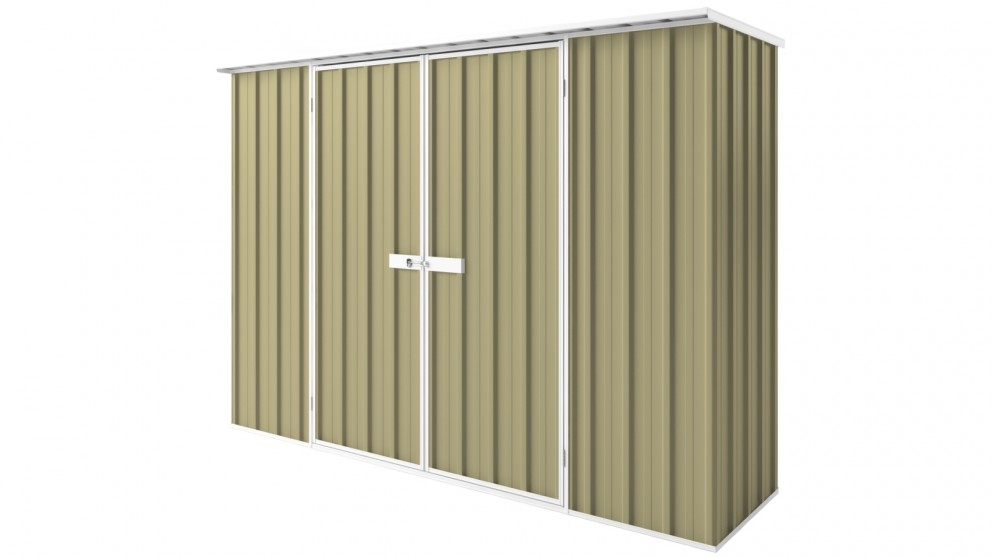 EasyShed D3008 Tall Flat Roof Garden Shed - Sandalwood