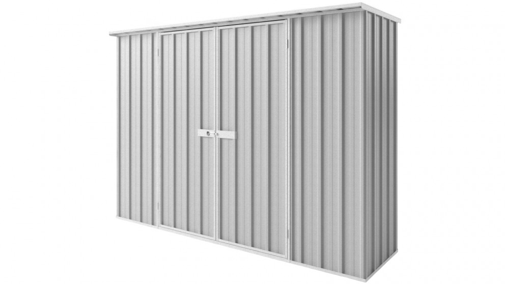 EasyShed D3008 Tall Flat Roof Garden Shed - Zincalume