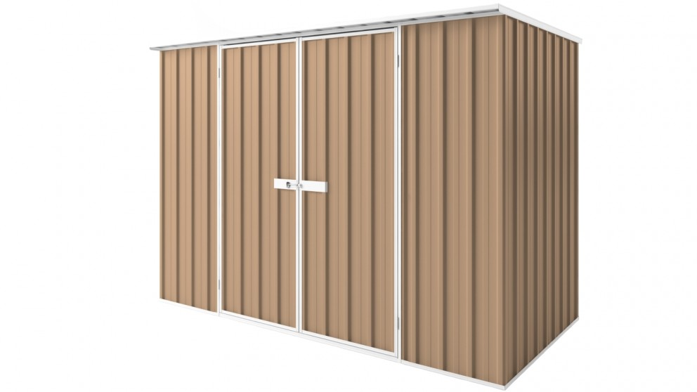 EasyShed D3015 Tall Flat Roof Garden Shed - Pale Terracota