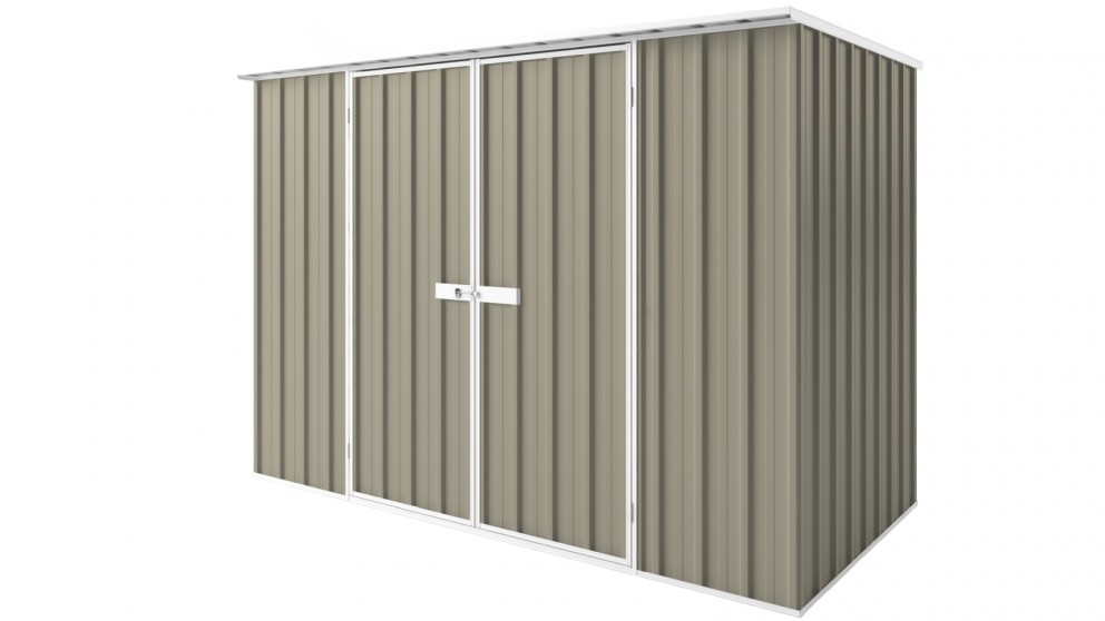EasyShed D3015 Tall Flat Roof Garden Shed - Stone