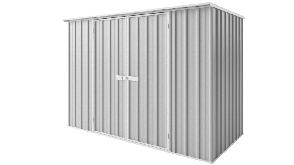 EasyShed D3015 Tall Flat Roof Garden Shed - Zincalume