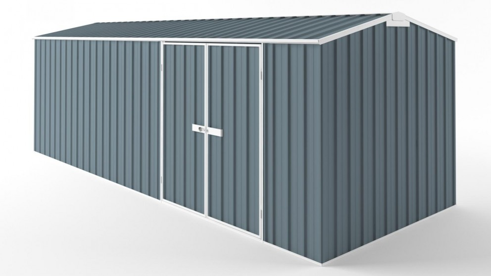 EasyShed D6023 Tall Truss Roof Garden Shed - Blue Horizon