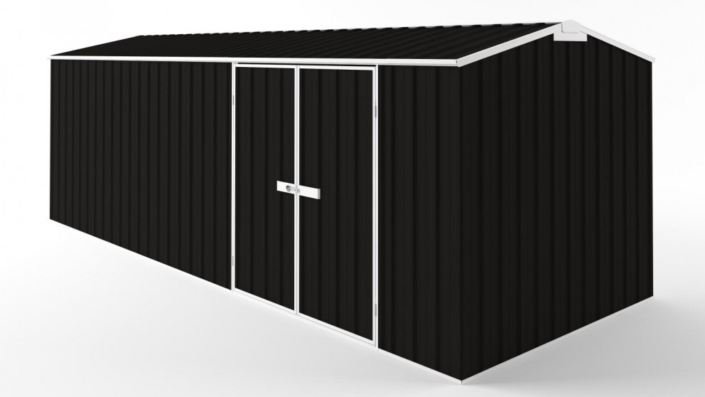 EasyShed D6023 Tall Truss Roof Garden Shed - Ebony