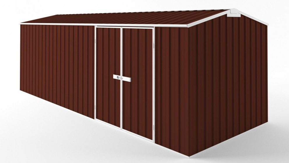 EasyShed D6023 Tall Truss Roof Garden Shed - Heritage Red
