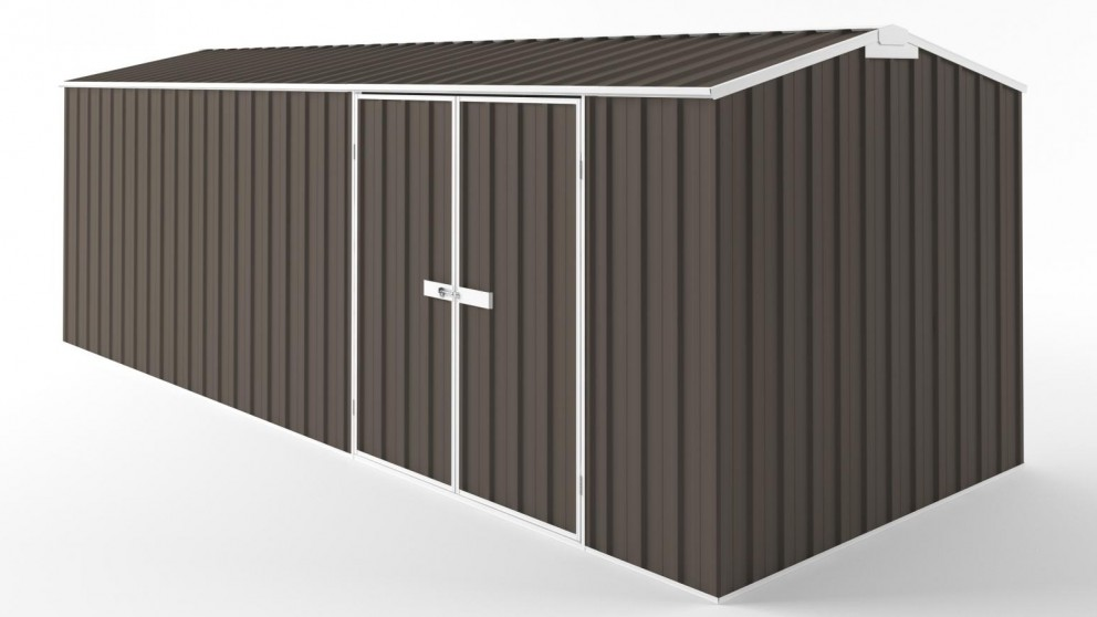 EasyShed D6023 Tall Truss Roof Garden Shed - Jasmine Brown