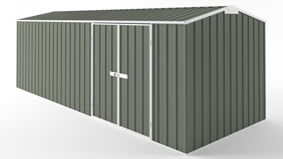 EasyShed D6023 Tall Truss Roof Garden Shed - Mist Green