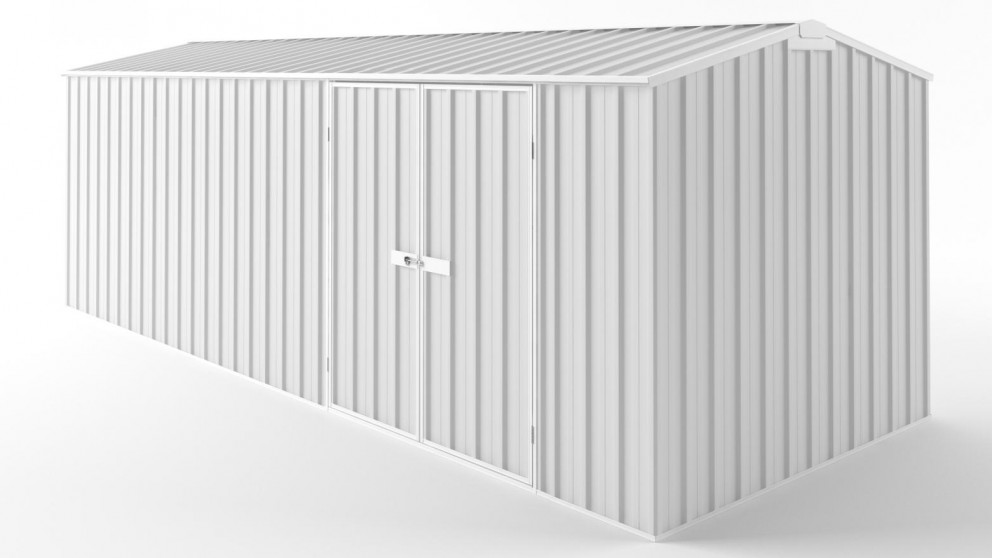 EasyShed D6023 Tall Truss Roof Garden Shed - Off White
