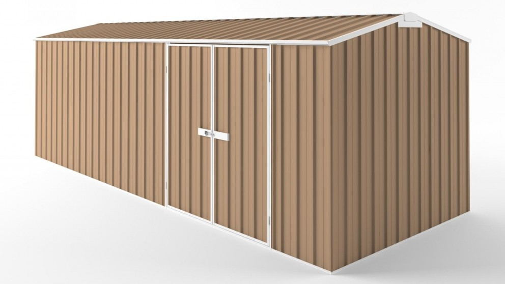 EasyShed D6023 Tall Truss Roof Garden Shed - Pale Terracotta