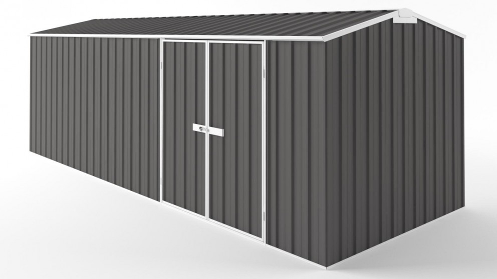 EasyShed D6023 Tall Truss Roof Garden Shed - Slate Grey