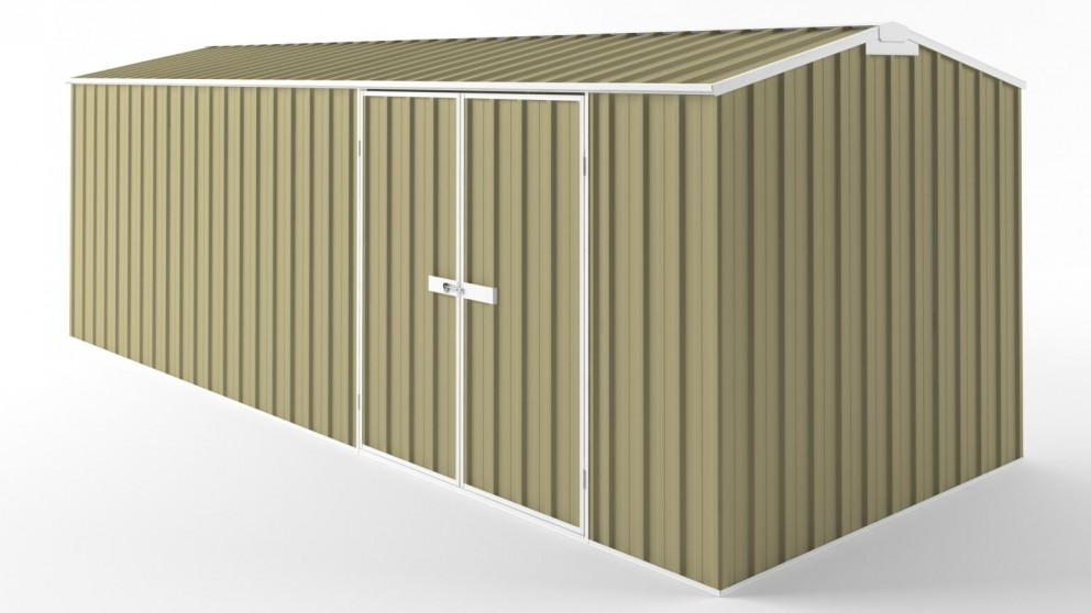 EasyShed D6023 Tall Truss Roof Garden Shed - Sandalwood