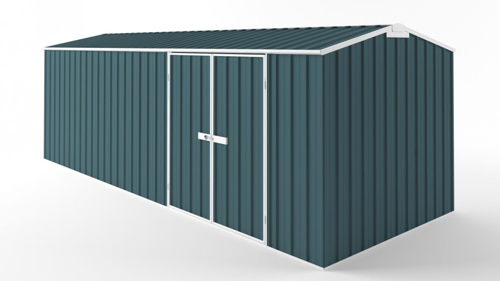 EasyShed D6023 Tall Truss Roof Garden Shed - Torres Blue