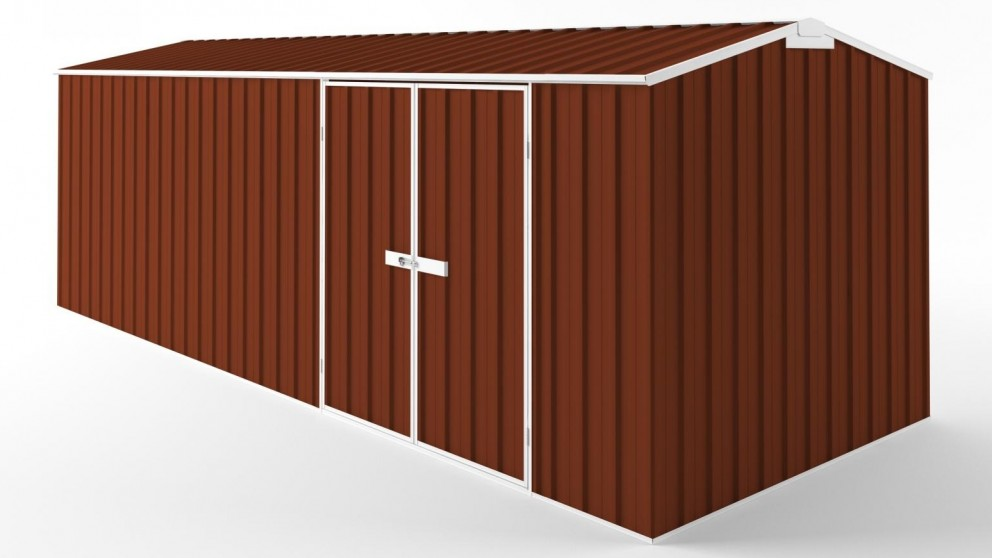 EasyShed D6023 Tall Truss Roof Garden Shed - Tuscan Red