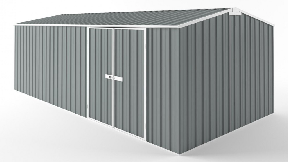 EasyShed D6030 Tall Truss Roof Garden Shed - Armour Grey