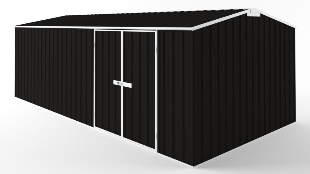 EasyShed D6030 Tall Truss Roof Garden Shed - Ebony