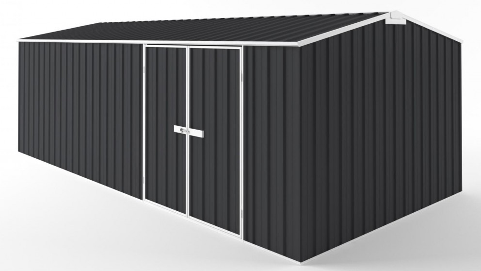 EasyShed D6030 Tall Truss Roof Garden Shed - Iron Grey