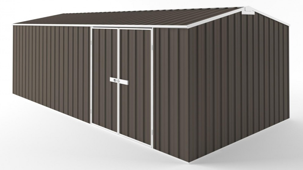 EasyShed D6030 Tall Truss Roof Garden Shed - Jasmine Brown