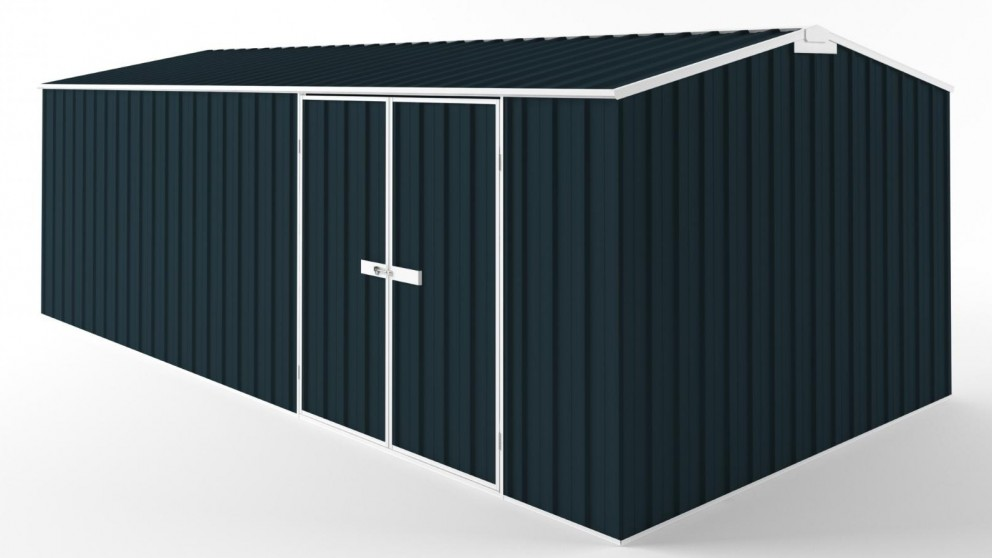 EasyShed D6030 Tall Truss Roof Garden Shed - Mountain Blue