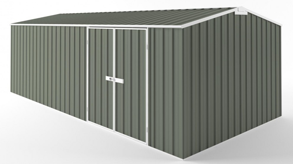 EasyShed D6030 Tall Truss Roof Garden Shed - Mist Green