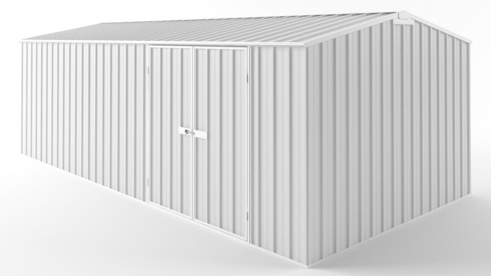 EasyShed D6030 Tall Truss Roof Garden Shed - Off White