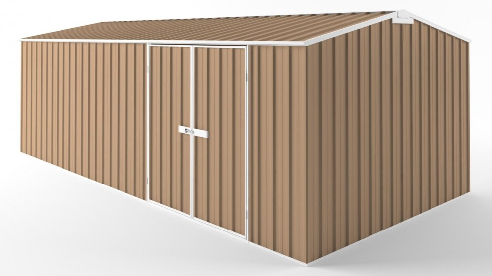EasyShed D6030 Tall Truss Roof Garden Shed - Pale Terracotta
