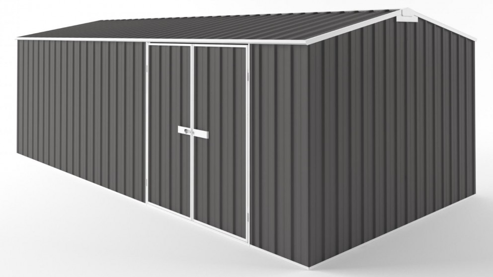 EasyShed D6030 Tall Truss Roof Garden Shed - Slate Grey