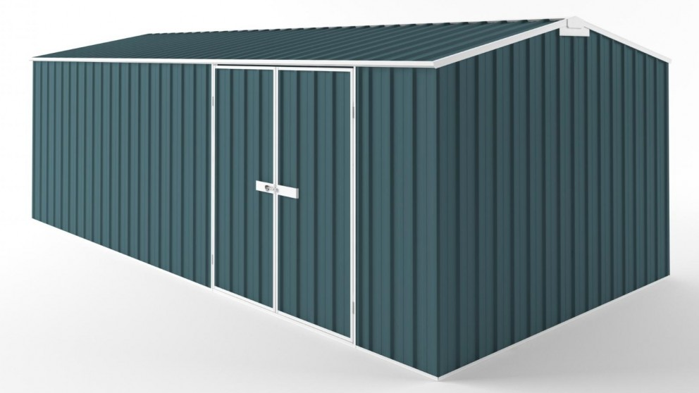 EasyShed D6030 Tall Truss Roof Garden Shed - Torres Blue