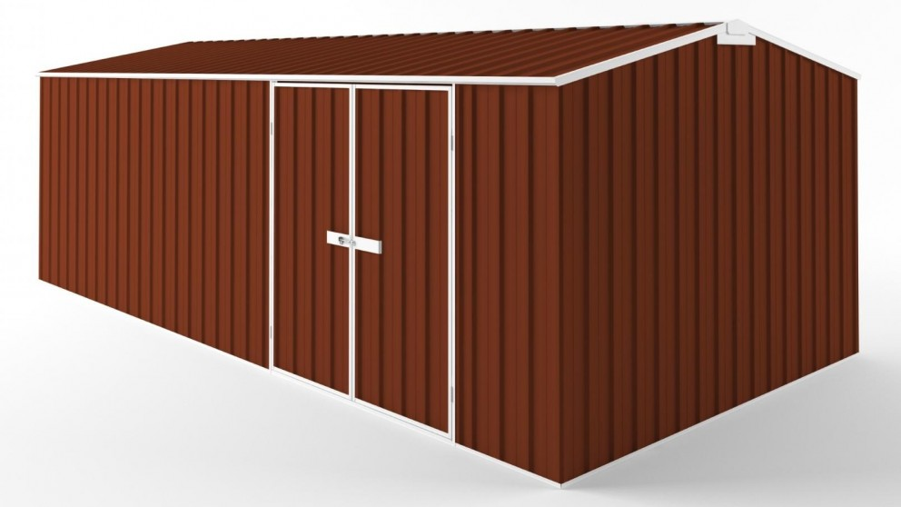 EasyShed D6030 Tall Truss Roof Garden Shed - Tuscan Red
