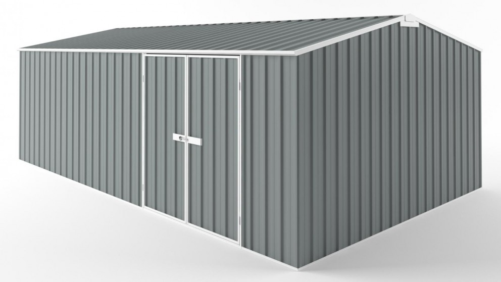 EasyShed D6038 Tall Truss Roof Garden Shed - Armour Grey
