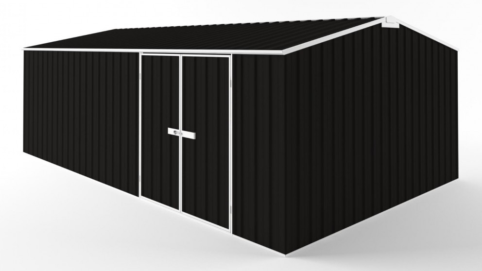 EasyShed D6038 Tall Truss Roof Garden Shed - Ebony