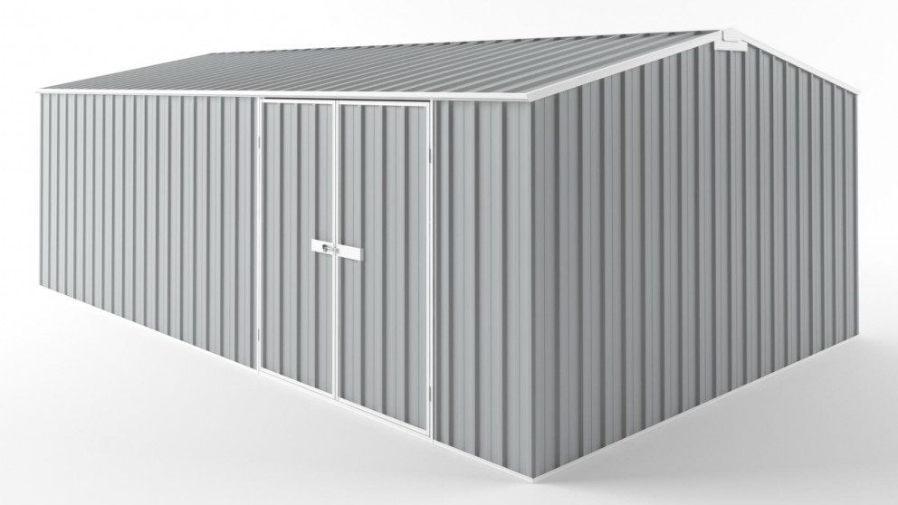 EasyShed D6038 Tall Truss Roof Garden Shed - Gull Grey