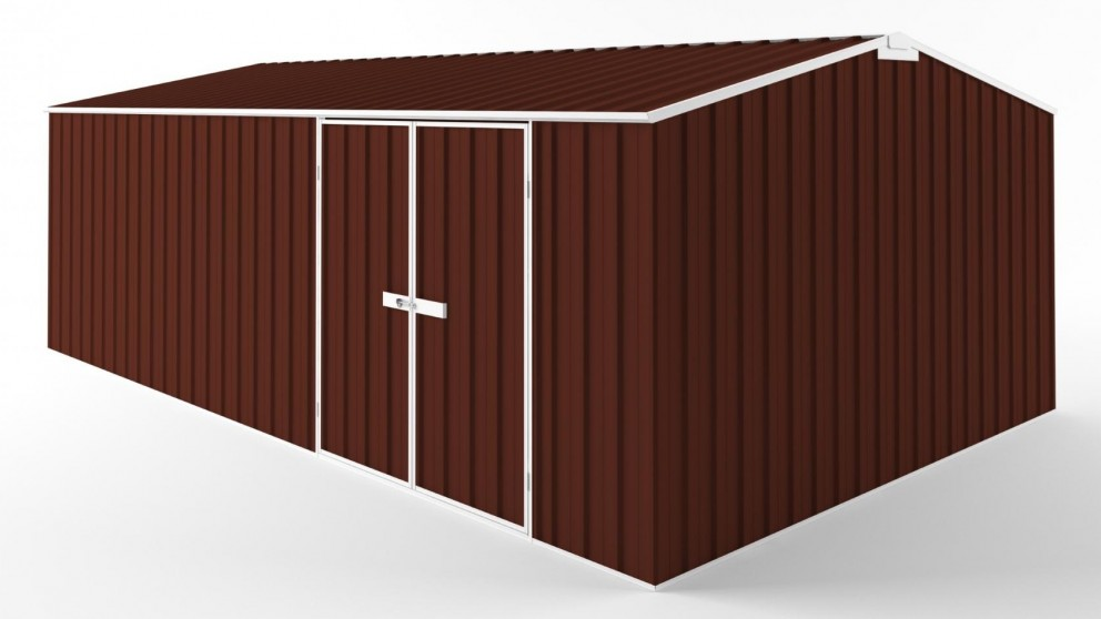 EasyShed D6038 Tall Truss Roof Garden Shed - Heritage Red