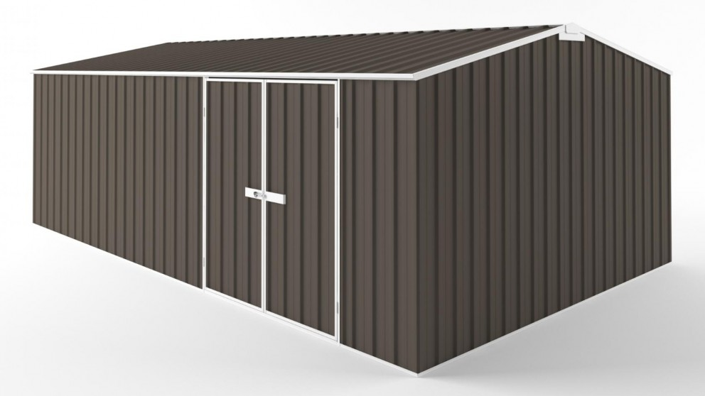 EasyShed D6038 Tall Truss Roof Garden Shed - Jasmine Brown
