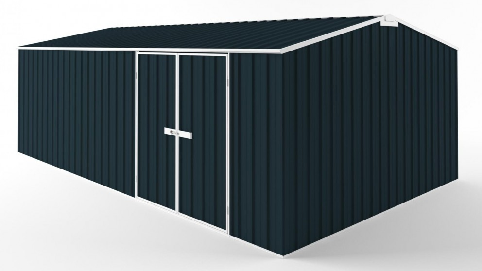 EasyShed D6038 Tall Truss Roof Garden Shed - Mountain Blue