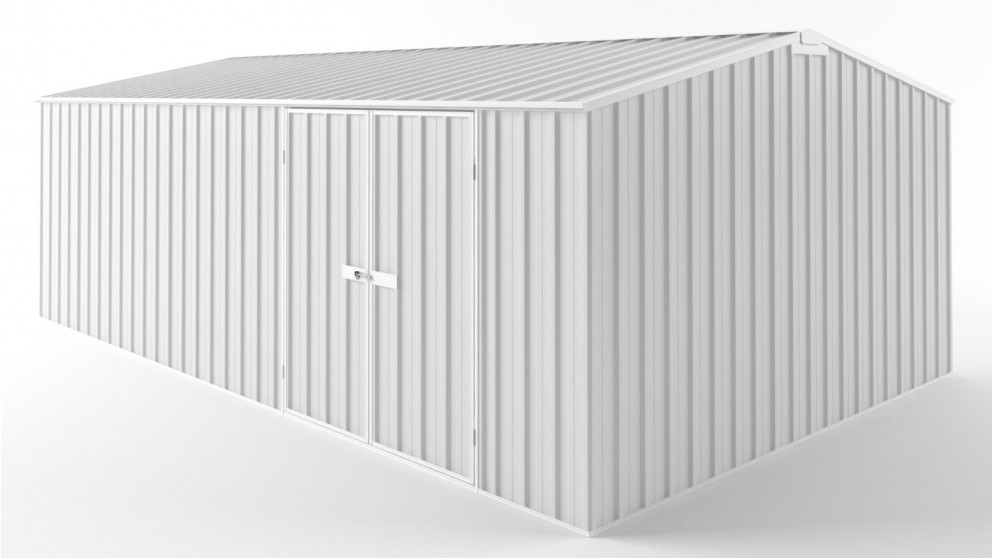 EasyShed D6038 Tall Truss Roof Garden Shed - Off White