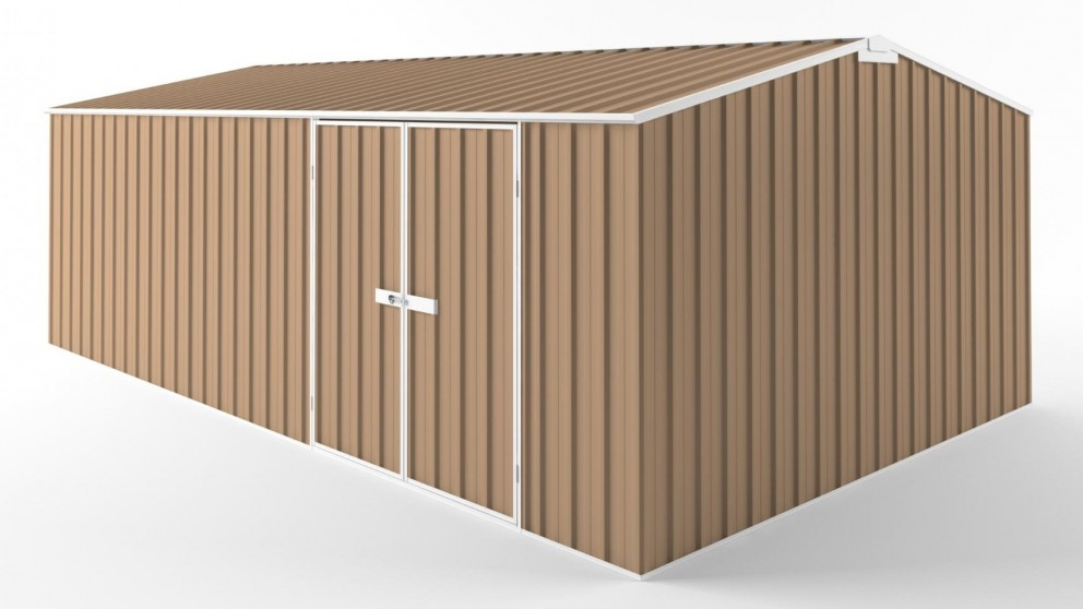 EasyShed D6038 Tall Truss Roof Garden Shed - Pale Terracotta