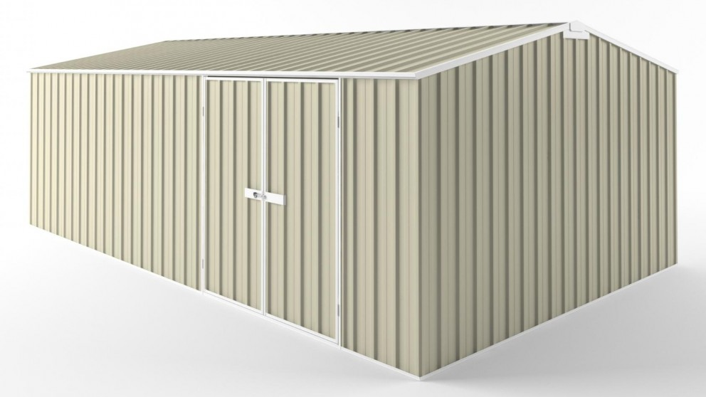 EasyShed D6038 Tall Truss Roof Garden Shed - Smooth Cream