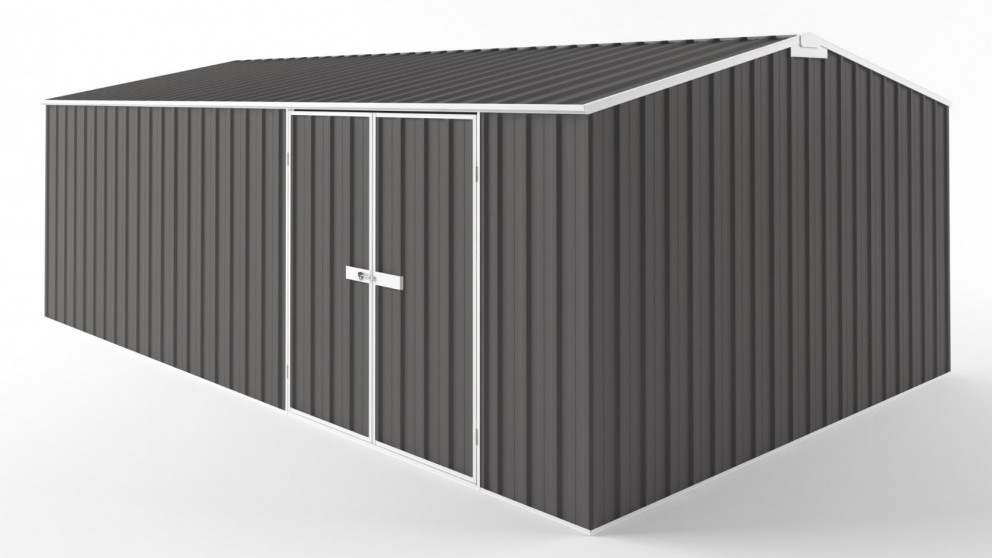 EasyShed D6038 Tall Truss Roof Garden Shed - Slate Grey
