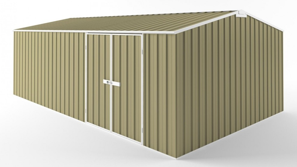 EasyShed D6038 Tall Truss Roof Garden Shed - Sandalwood