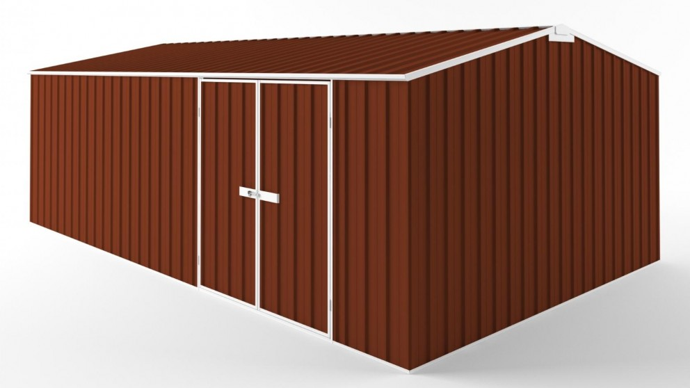 EasyShed D6038 Tall Truss Roof Garden Shed - Tuscan Red