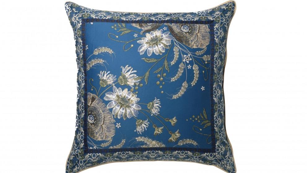 Poppy Blue European Pillowcase
