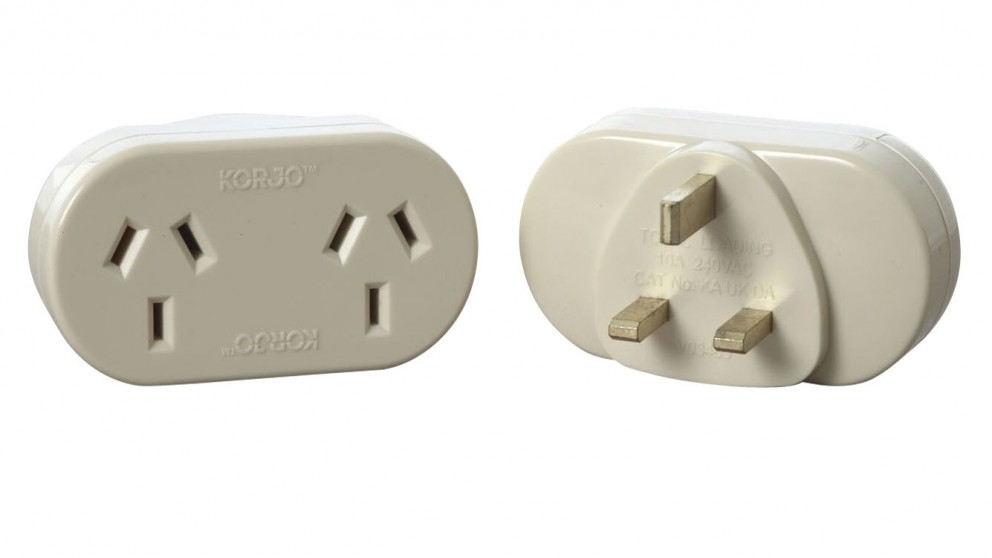 Korjo Double Adapter for the UK