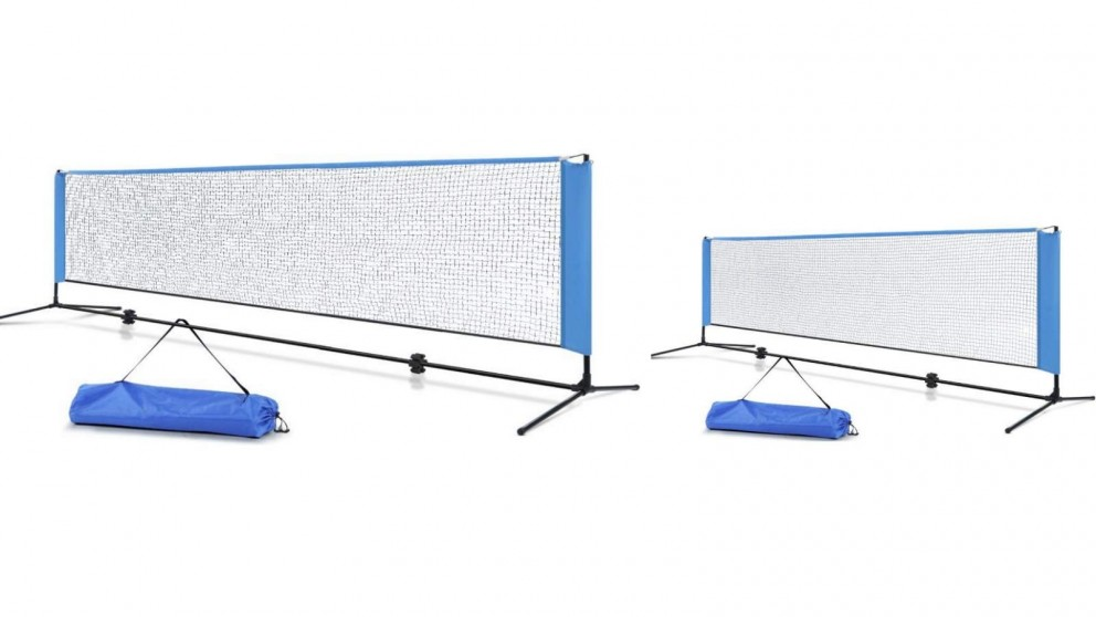 Everfit Portable Sports Net Stand - Blue