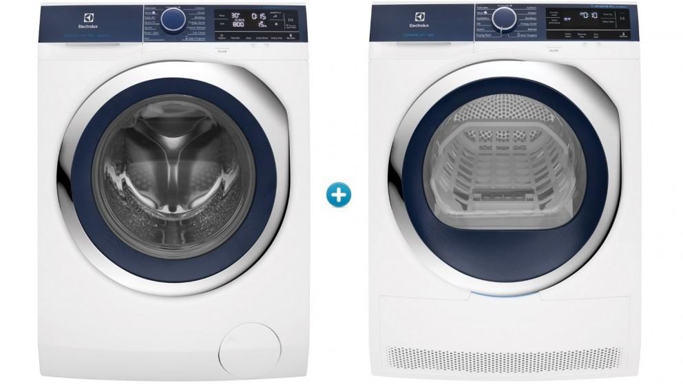 Electrolux 10kg Front Load AutoDose Washing Machine plus 9kg Ultimate Care Heat Pump Dryer