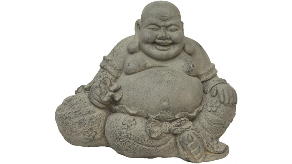 Laughing Happy Buddha Garden Feature