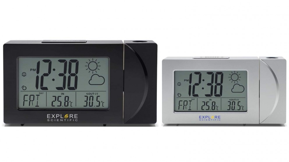 Explore Scientific Projection Clock with Weather Forecast Display