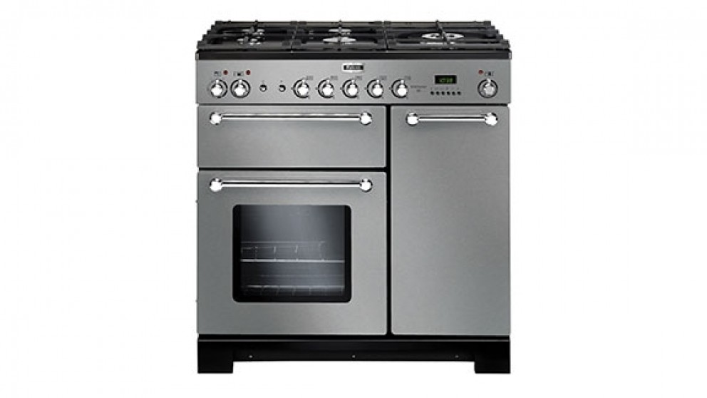Falcon Kitchener 900mm Dual Fuel Freestanding Cooker - Stainless Steel Chrome