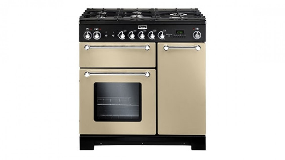 Falcon Kitchener 900mm Dual Fuel Freestanding Cooker - Cream Chrome