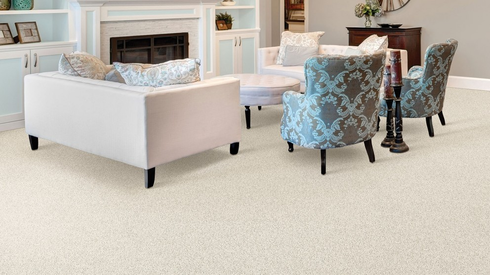 Smartstrand Silk Reserve Exquisite Softness Ivory Luster Carpet Flooring