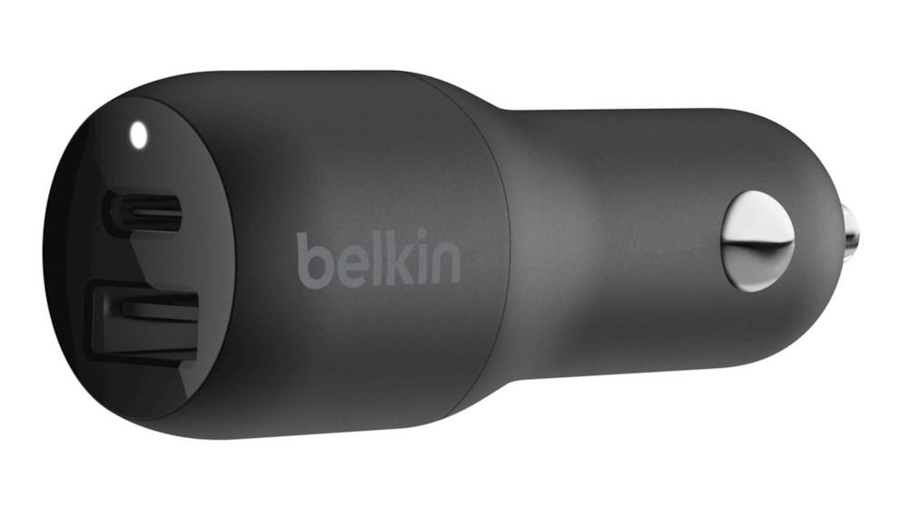 Belkin BOOSTCHARGE 18W USB-C-PD + 12W USB-A Car Charger