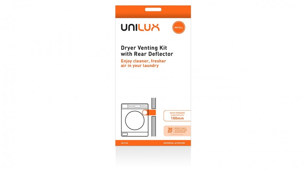 Unilux Dryer Vent Kit with Deflector